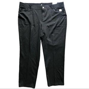 Roz & Ali Classic Fit Slim Black Pants